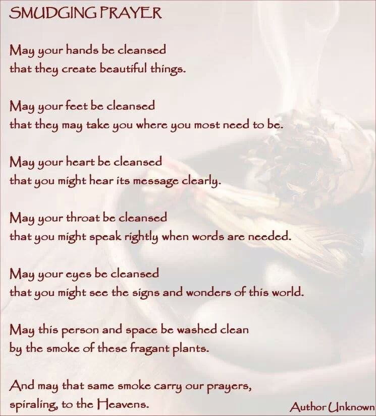 The Smudging Prayer