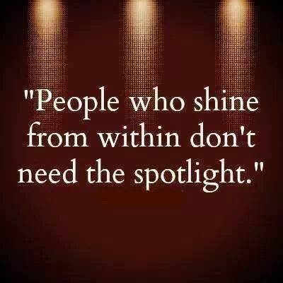 Not Everyone Needs to Stand in the Spotlight