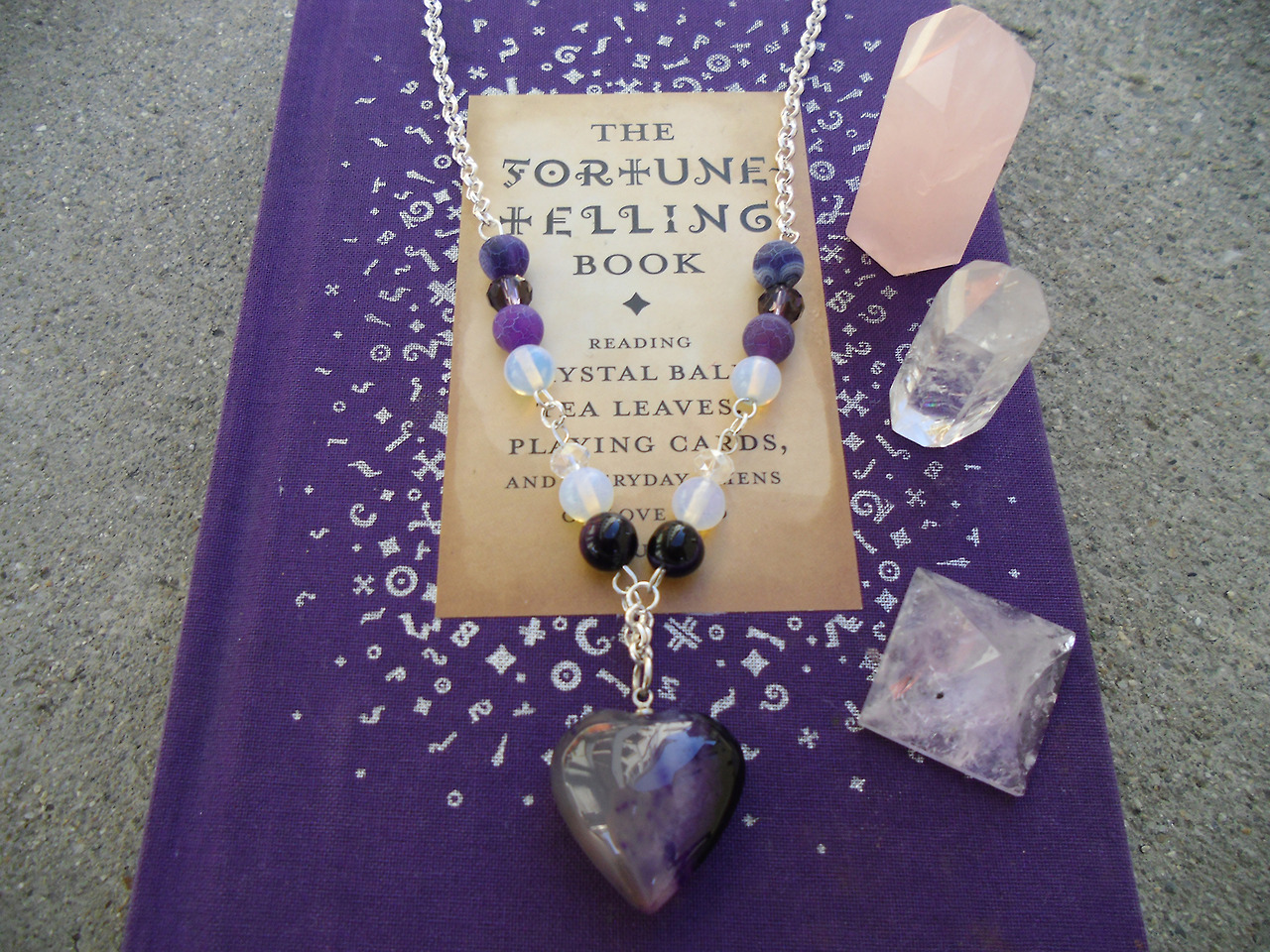 A Great Looking Purple Agate Necklace