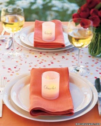 Wedding Candle Placemat Holders