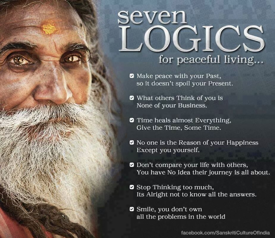 Seven Logics for a Peaceful Life