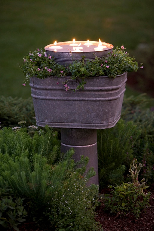 A Rustic DIY Outdoor Candle Holder