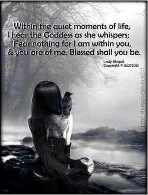 Blessed are We, who hear the GoddessWhisper.