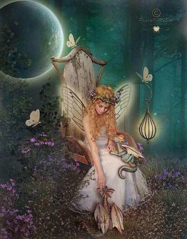 A Fairy Princess and Her Pet.. Dragons..
